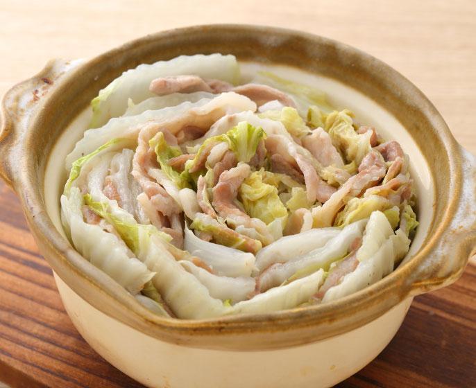 サラダチキンの素 「サラダ・白菜×豚肉」でミルフィーユ鍋