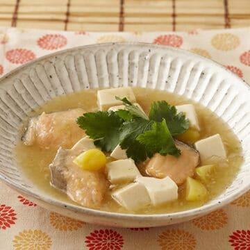 鮭と栗の和風麻婆豆腐