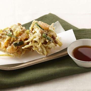 福豆と根菜のかき揚げ