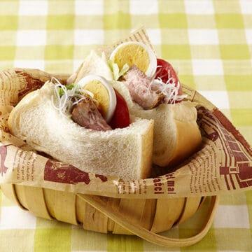 飲茶風 豚肉の角煮サンド