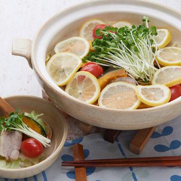豚肉のさっぱりレモン鍋
