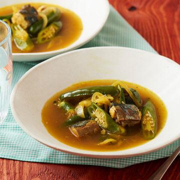 鯖缶カレー風味スープ