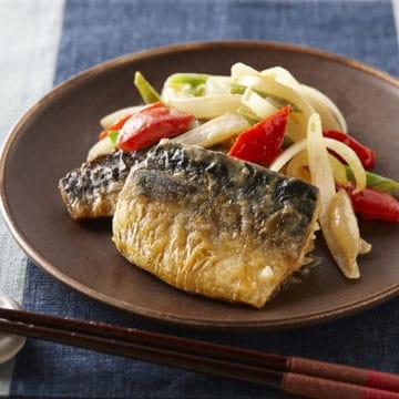 揚げ鯖の味噌炒め