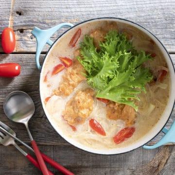 鶏からサラダ鍋
