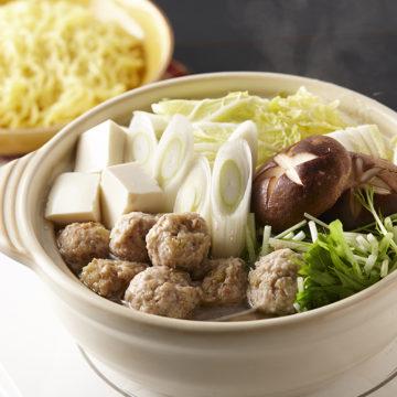 つくねと野菜のシンプル鍋