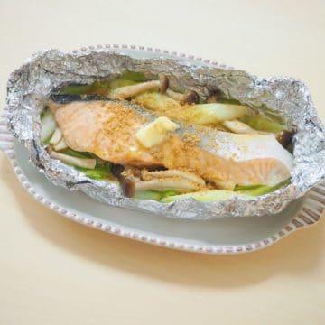 鮭のホイル塩ちゃんちゃん焼き