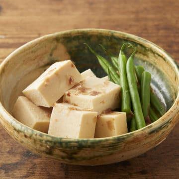 高野豆腐といんげんの含め煮