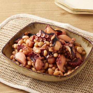 たこと大豆のぽんず柔らか煮