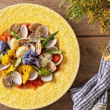 ハマグリと野菜の温サラダ
