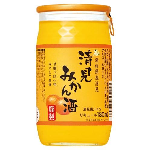 愛媛県産清見みかん酒180mlカップ