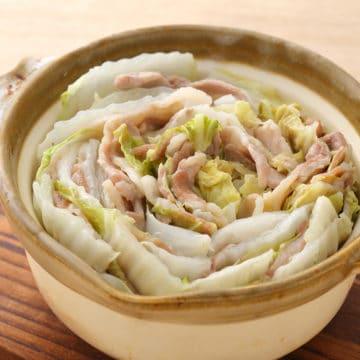 サラダチキンの素×豚肉「ミルフィーユ鍋」