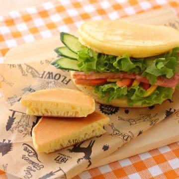 サラダチキンの素×パンケーキ「おかずパンケーキ」
