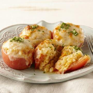 トマトリゾットのオーブン焼き