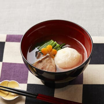 塩ぶりのお雑煮(関東風)