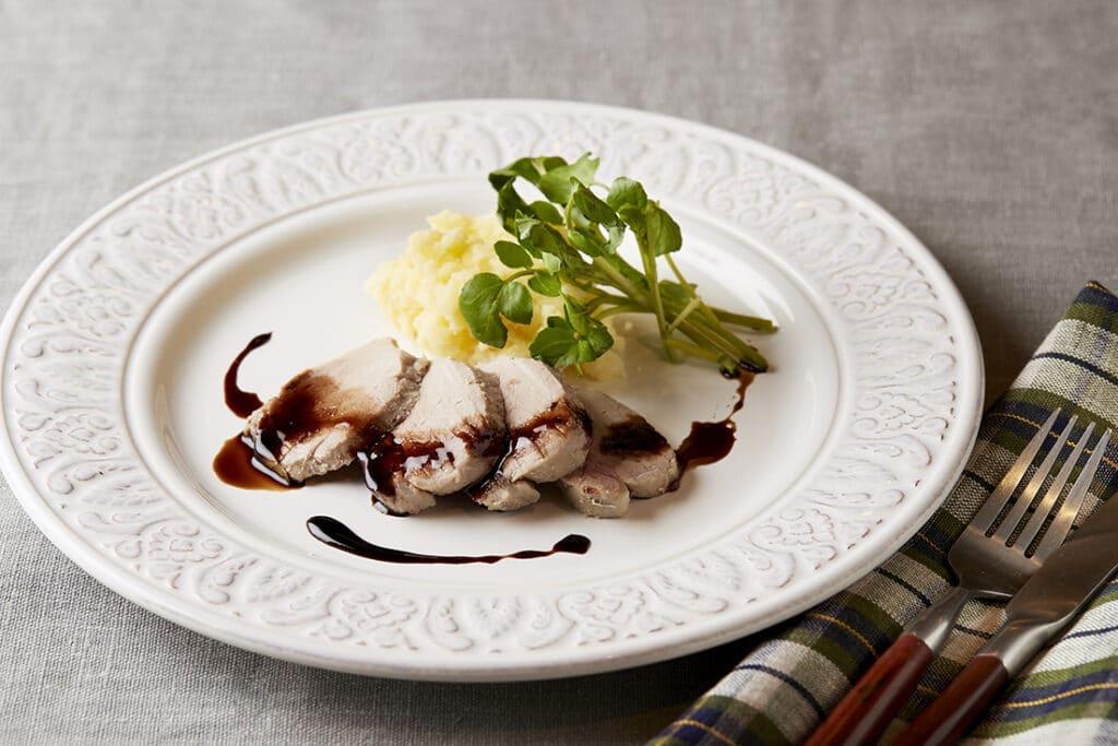 日の出みりん レシピ サラダポーク バルサミコ