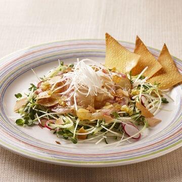 鯛と魚介の中華サラダ 薬味ソース