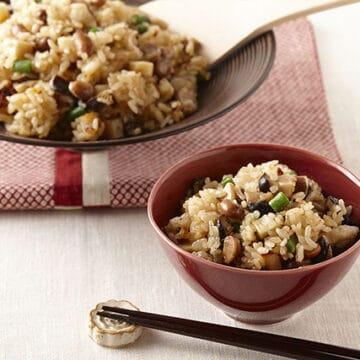 福豆と豚肉の中華風炊き込みご飯