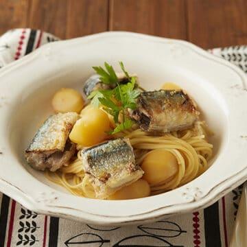 秋刀魚と栗のイタリアンパスタ