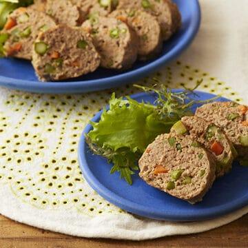 春野菜のフライパンミートローフ