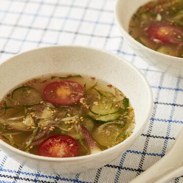 冷や汁風香味スープ