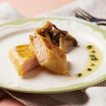 鮭のじゃが芋包み焼き