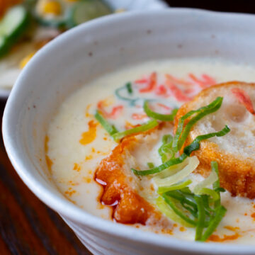 鹹豆漿(シェントウジャン)風豆乳スープ