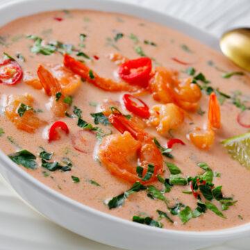 トムカークン(海老のココナッツスープ)